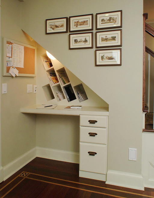 Sliding Under Stair Storage Clever Storage Ideas