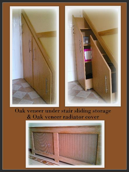 ingenious under stair shelving. This ingenious design maximizes the space and eliminates clutter  all units can be painted in different finishes to suit your taste Sliding Under stair storage Clever Ideas